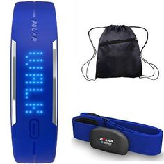 Polar - Loop Activity Tracker with H7 Heart Rate Sensor M-XXL and Bag - Blue *** Learn more by visiting the image link.