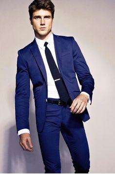 Tie bar is way too low!   cool blue suit