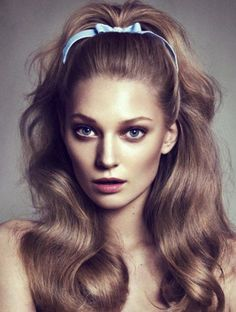 Combination of Retro 70s Party Hairstyles for Long Hair 2014 with Hair Band and Big Hair