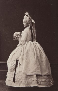 Princess Louise of England, later duchess of Argyll in roccoco costume. 1865