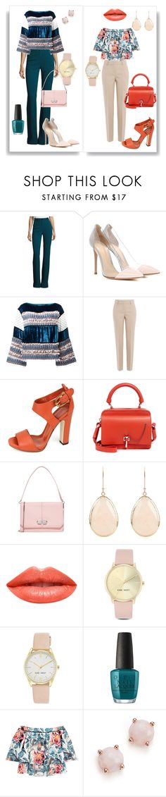 """be feminine*"" by gunterpiggy ❤ liked on Polyvore featuring Roberto Cavalli, Gianvito Rossi, See by Chloé, DKNY, Gucci, Carven, Ardency Inn, Nine West, OPI and Elizabeth and James"