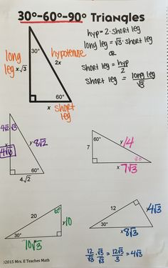 Worksheets Special Right Triangles 30 60 90 Worksheet Answers special right triangle note and triangles on pinterest free interactive notebook page for 30 60 90 triangles