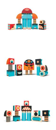 Invisible Creature's Stackable Monster Block Sets | BLDGWLF