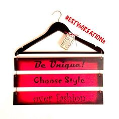 Be unique!  Choose style over fashion-- a fantastic hand painted wooden bedroom or walk-in closet sign by #ESTYsCREATIONs .  ORDER your Be Unique! sign TODAY... * DM on Instagram * PM on facebook.com/ESTYsCREATIONs * message on ESTYsCREATIONs.com . . . . .  #woodensign #sign #doorsign #wallsign #handpainted #homedecor #decor #homeaccents #home #homeaccessories #bedroom #bedroomdecor #interiordesign #interiordecor #quote #hanger #walkincloset #girl #clothes  #beunique #inspiration #beoriginal…