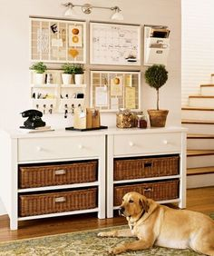Clean & Scentsible: Organizing a Kitchen Command Center,. Lots of inspiration photos