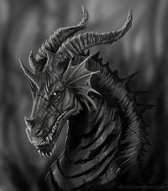 Dark Fantasy Art Dragons | Dark Dragon by ~Decadia on deviantART