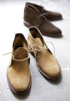 Alden suede chukka. #style #fashion #men