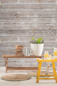 Coastal Weathered Wood Wall Mural. Wallpaper DecorWood ... Part 73