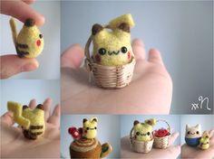 Miniature Felted Pikachu by xxNostalgic on deviantART
