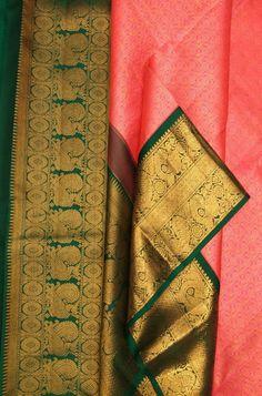 Pink Handloom Kanjeevaram Pure Silk Saree    #kanjeevaramsilksaree#