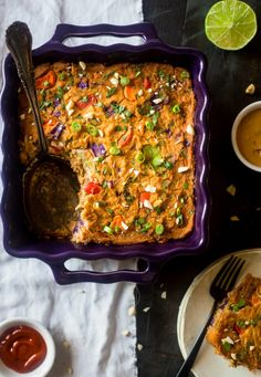 Thai Peanut Chicken Rainbow Cauliflower Casserole | Community Post: 20 Crazy Delicious Low-Carb Dinners That Won't Leave You Hangry