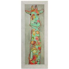 Colorful Giraffe Framed Art - BedBathandBeyond.com