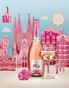 짐앤주로 잘 알려진 프랑스 듀오 루시 토마스(LUCIE THOMAS)와 티보 짐머만(THIBAULT ZIMMERMANN)이 로제 와인 미아(MIA)의 매력을 강조하기 위해 분홍색 종이로 바르셀로나를 제작했다. 특히 여성층에게 사랑 받는 제품이라는 점에 착안해, 미묘하고 섬세한 분위기를 조성하기 위해 분홍색을 선택했고 배경에는 베이지색과 하늘색을 사용하...
