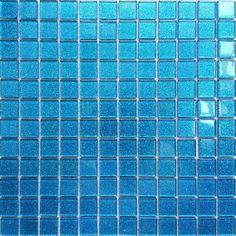 30x30cm Ocean Blue Glitter Glass Mosaic Tiles Sheet MT0008: Amazon.co.uk: Kitchen & Home