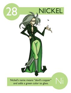 Periodic Table of Elements as Cartoon Characters