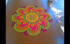 Mash Kolam 2 Colorful Rangoli Designs, Rangoli Designs Diwali, Diwali Rangoli, Kolam Designs, Mehandi Designs, Rangoli Colours, Rangoli Patterns, Rangoli Ideas, Welcome Home Decorations