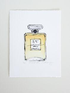 Victoria-Riza Fashion Illustration // Chanel No. 5 // Art Prints available at victoriariza.com