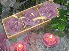 Includes 3 lavender roses per pack. Gift box is shrink wraped and tied with a matching ribbon. Each rose measured 3in wide. Lightly scented with lavender fragrance oil.