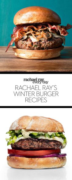 Rachael Ray's Winter Burger Recipes - Rachael Ray Every Day #burgers