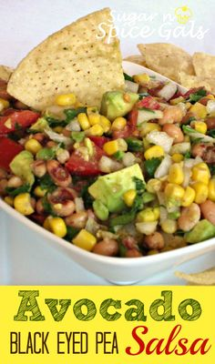 2 avocados, ripe but firm, diced 1 (14.5 oz) can corn, drained 1 (15oz) can black eyed peas 1/2 white onion, chopped (about 1/2 cup) 1/2 cup fresh cilantro, chopped 1 cup roma tomatoes, diced 1/4 cup red wine vinegar 1/4 cup olive oil 1 tsp. cumin 1/2 tsp. minced garlic salt and pepper to taste