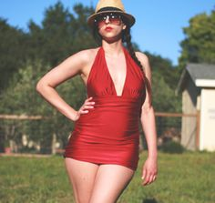 Our Favorite Indie Sewing Patterns + Giveaway: Bombshell Swimsuit - Sew Mama Sew
