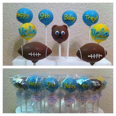 ucla cake pops (logo, bruin bear, football)