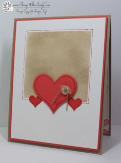 Stampin' Up! You're So Sweet Love Card