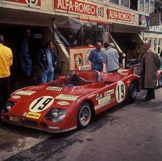 Box Alfa Romeo prove libere Le Mans 1972