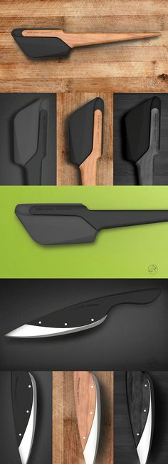 Juan Restrepo has taken two of the most commonly used kitchen tools and given them a sleek makeover with variations in high-end materials like black ebony and light hardwood to compliment your designer kitchen style. Yanko Design, Cv Design, Design Model, Kitchen Utensils, Kitchen Tools, Kitchen Gadgets, Kitchen Products, Kitchen Ideas, Design Industrial