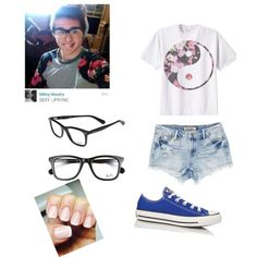 A day with the amazing Mikey Murphy by camhutchins on Polyvore featuring polyvore fashion style Converse Ray-Ban