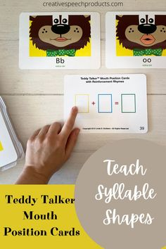 Great for children with various speech sound disorders (i.e articulation, apraxia and phonological). These cards provide and interactive and fun way to visualize speech sounds and combine sounds into syllable shapes to practice movement! #speechtherapy #teddytalker #pediatricspeechtherapy #apraxiaofspeech #articulation #speechtherapyvisualcues Speech Therapy Activities, Alphabet Activities, Fun Activities, Childhood Apraxia Of Speech, Phonemic Awareness Activities, Speech Delay, Motor Planning, Visual Cue, Syllable