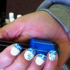 Go Wildcats University Of Kentucky Nail Art Nail It Pinterest