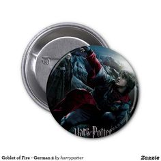 Goblet of Fire - German 2 2 Inch Round Button