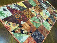 autumn table runner patterns | Fall Charmer Charm Square Table Runner Pattern