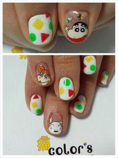 クレヨンしんちゃん : Character nail art