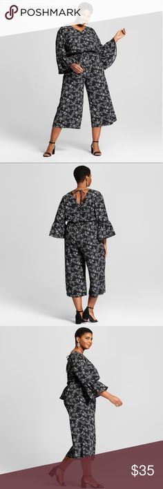 4d6d4e4dfc3 New plus size jump suit New without tags pants plus size jump suit by Ava  and. Black Floral ...