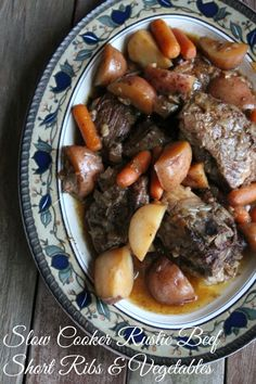 Rustic Beef Short Ribs and Vegetables 405 Calories and 10 weight watchers points plus