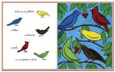 Composition, color, birds