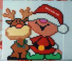 Christmas hama perler beads by Deco.Kdo.Nat - Pattern: http://www.pinterest.com/pin/374291419006123406/