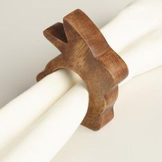 Made of real wood carved into a bunny silhouette, these sweet napkin rings are as cute as they are practical.