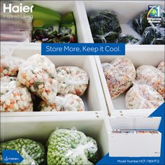 #Haier's #DeepFreezer is an ideal place to store a variety of food items like  Sausages, Salami and Kebabs.