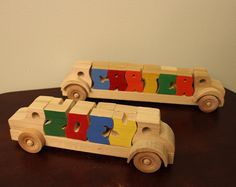 Tilly the utility bucket truck  wooden toy truck