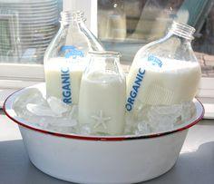 glass bottles for the milk