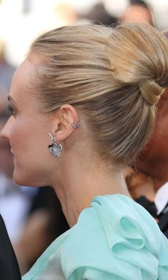 hair up - Diane Kruger Rocked A Sleek Updo Hairstyle At Cannes Film Festival, 2012