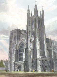 Canterbury Cathedral, view of the Western Towers engraved by J.LeKeux after a picture by G.Cattermole, 1821 edited - Charles I of England - Wikipedia, the free encyclopedia