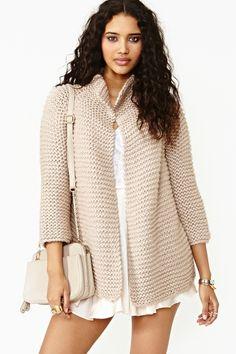 Jocelyn Knit Jacket in Nude