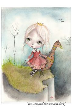 Original+gouache+painting...mixed+by+ppinkydollsart+on+Etsy,+$120.00