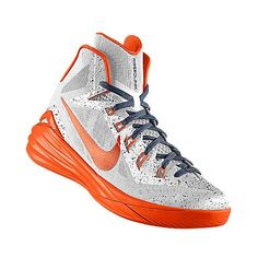 I designed the white Syracuse Orange Nike women's basketball shoe because the school colors are Orange, dark blue and white.