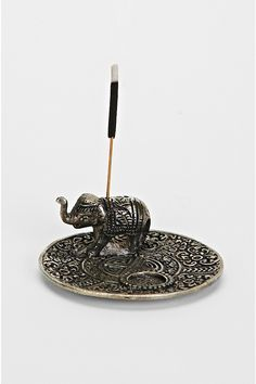 Metal Elephant Incense Holder - Urban Outfitters [ LittleRockParthenon.com ]