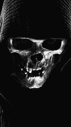 Skull Girl Tattoo, Skull Tattoo Design, Skull Tattoos, Tattoo Designs, Gothic Wallpaper, Skull Wallpaper, Marduk Band, Skull Reference, Totenkopf Tattoos